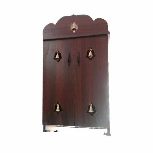 Brown Wooden Pooja Cupboard