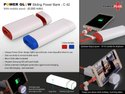 Powerglow Sliding Power Bank With Mobile Stand (6,000 Mah)