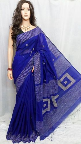 Cotton Formal Wear Saree, 5.2 m (separate blouse piece), With blouse piece