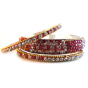 Sultanset Brass Stone Studded Bangle Set