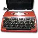 Red Brother Portable Typewriter