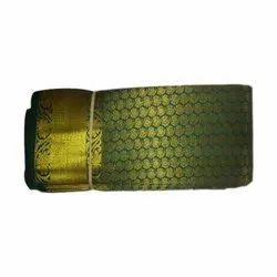 Party Wear Zari Work Ladies Green Pattu Saree, 6.3 m (with blouse piece), Machine Made