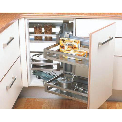 Five Corners Kitchen: Plywood Magic Corner Kitchen Unit, Rs 5000 /piece, Classic
