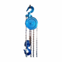 Mild Steel Blue Industrial Chain Pulley Block, Capacity: 2 Ton