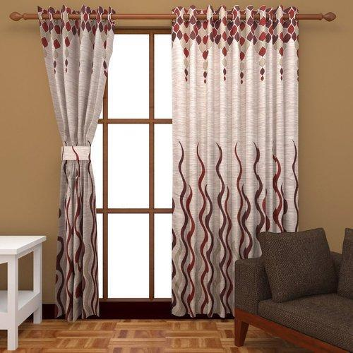 Fl Polyester Window Curtains Size 7 Feet