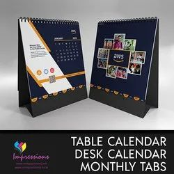 Table Calendars with Monthly Tabs