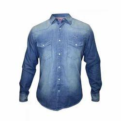 Casual Men's Denim Shirt