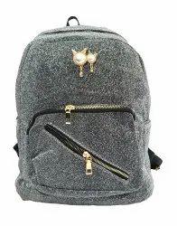 Grey Glittering Girls Backpack