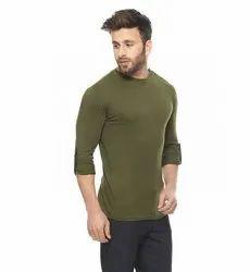 Round Neck Full Sleeve Plain T-Shirts