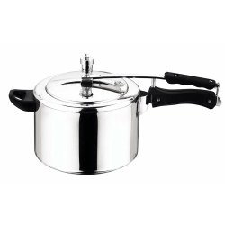 Silver Stainless Steel Pressure Cooker, Packaging Type: Box, Capacity: 3 L