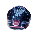 Virgo Black Covered Motorbike Helmet, Size: Md