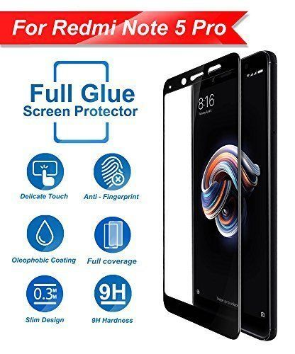 5d Curved Tempered Glass Edge To Edge Glass For Xiaomi Redmi Note 5 Pro