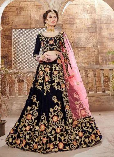 a773d8c56a Velvet Kesari Exports Bridal Lehenga Choli, Net, Pink, Rs 4810 ...
