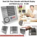 Life Time Calendar With Watch & Month Display (Big Size)