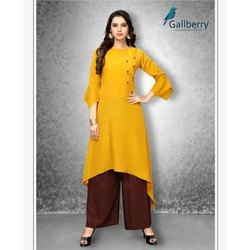 Ladies Casual Wear Rayon Kurti