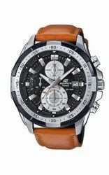 Casio Edifice leather Belt Brown Watches