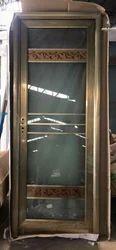 Aluminium Hinged Golden Marco (Bathroom Door) for Home, Thickness: 30mm