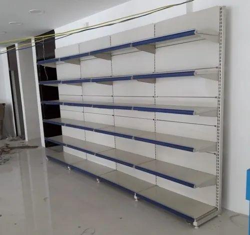 Iron Yellow Departmental Store Display Racks 7 Ft Rs