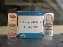 Azihist-500 Azithromycin 500mg Tablets, 3 Tablets