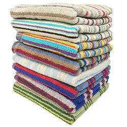 Colored Jacquard Bath Towels