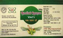 Gandhak Rasayan Vati, For Medical Purpose, Packaging Type: Plastic Bottle