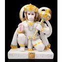 Marble Blessing Hanuman Statue