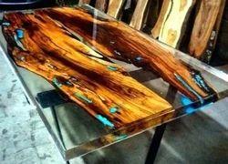 Crystal Clear Bar Table Top Epoxy Resin Coating For Wood Tabletop Jetline,  टेबल टॉप, मेज का टॉप - Janson Hardware, Bengaluru | ID: 19999940797
