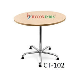 Wooden Round Cafeteria Table