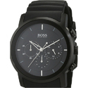 Black Rubber Mens Hugo Boss Watch