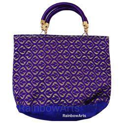 Blue Ladies Handicraft Hand Bag