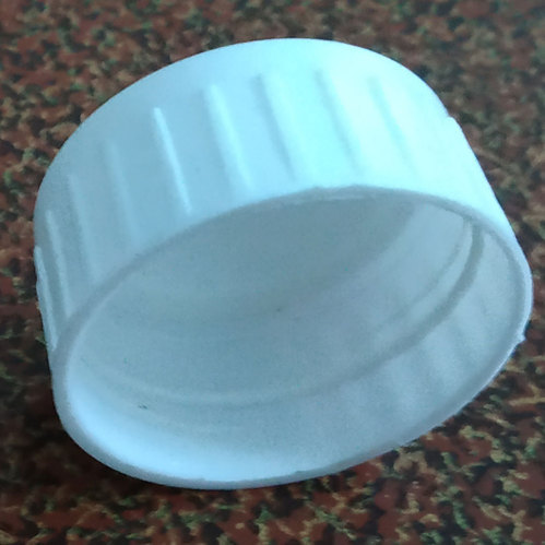 White Screw Cap PET Bottle Cap, Packaging Type: Packet
