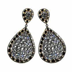 Scallywag Rainbow Black Onyx Gemstone Silver Earrings