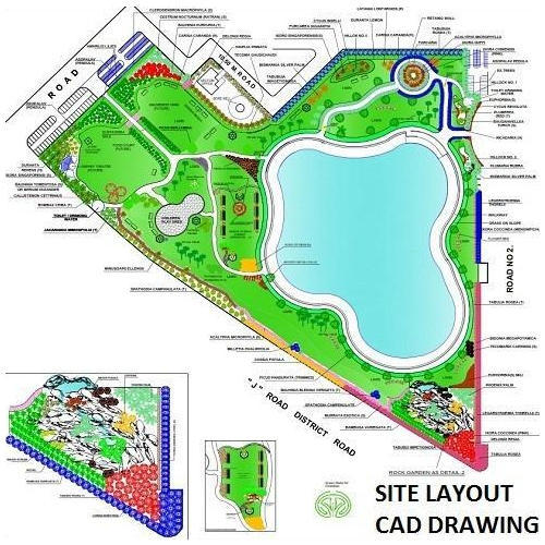Site Layout Cad Drawings Service in Satellite, Ahmedabad, Hi-Tech ...
