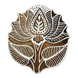 Lotus Printing Wooden Block