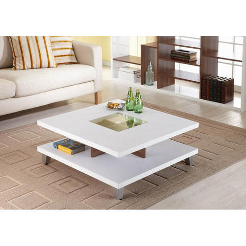 Exceptionnel Hekami Plywood White Center Table