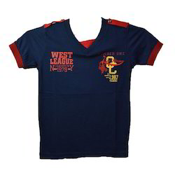 Cotton V-Neck Fancy Kids T-Shirt