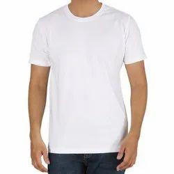 Half Sleeve White Cotton Round Neck T-Shirts