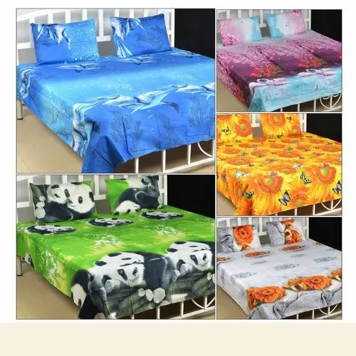 Cotton Printed Double Bed Sheets Size, How Big Is A Double Bed Sheet In Cm