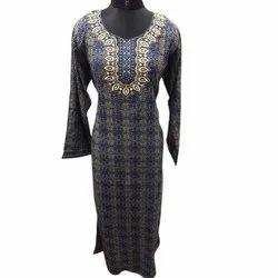 Casual Wear Full Sleeve Ladies Fancy Cotton Printed Kurti, Wash Care: Machine wash