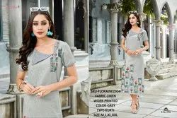 Rachna Linen Digital Printed Work Floraine Catalog Kurti For Women 4