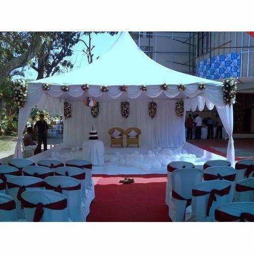 White Marriage Pagoda Tent Size 10X10  sc 1 st  IndiaMART & White Marriage Pagoda Tent Size: 10X10 Rs 18000 /unit Skyroof ...