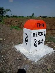 Concrete Kilometer Stone Painting & Numbering Services, Location Preference: Maharastra