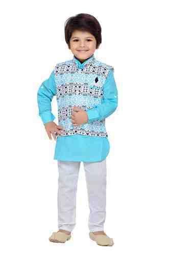 afa78e65e Boys Orange And Pink Kids Kurta Pyjama Waistcoat, Rs 695 /piece   ID ...