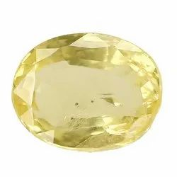 Clarity Oval - Cut Natural Ceylon Yellow Sapphire