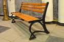 American Style Cast Iron Garden Bench