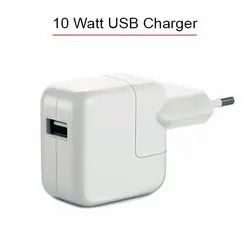 White 10W Single USB Charger