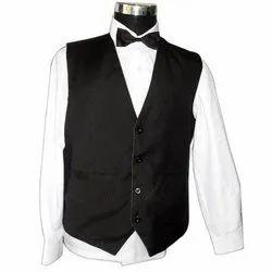 Black XL Waiter Waistcoat