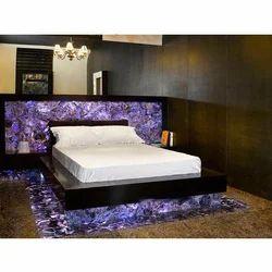 Bedroom Decorative Amethyst Slab, Thickness: 5.5-25 Mm
