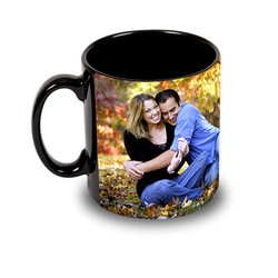 Sublimation Black Patch Mug