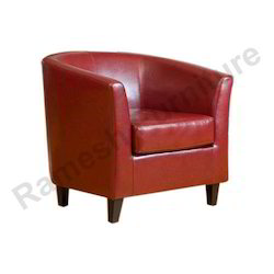 Single Seater Red Wooden Sofa Chair Rs 7000 Piece Ramesh